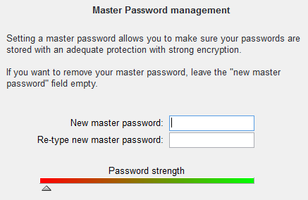 Passwords management